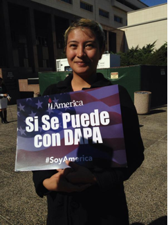 Leticia Velez wants to help fellow immigrants learn the benefits of DACA and DAPA.   D. Solomon