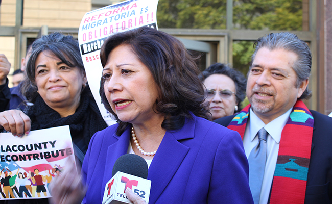 Supervisor Hilda Solis announces the creation of task force to help immigrants applying for deferred action. | D. Solomon