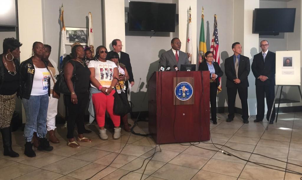 Commanding Officer Peter Wittingham, LAPD Criminal Homicide Division, at a news conference announcing arrest in the murder of Deshawnda Sanchez. | Photo by Deshawnda Sanchez