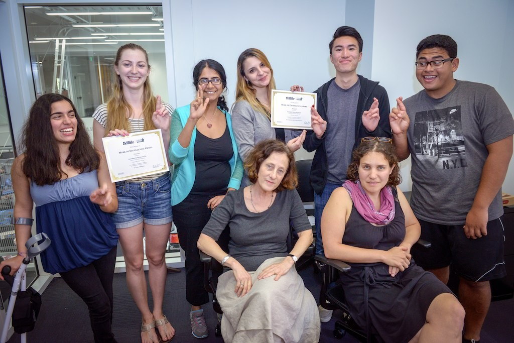 No stranger to awards: ISLA staff display recognitions from the Society of Professional Journalists.