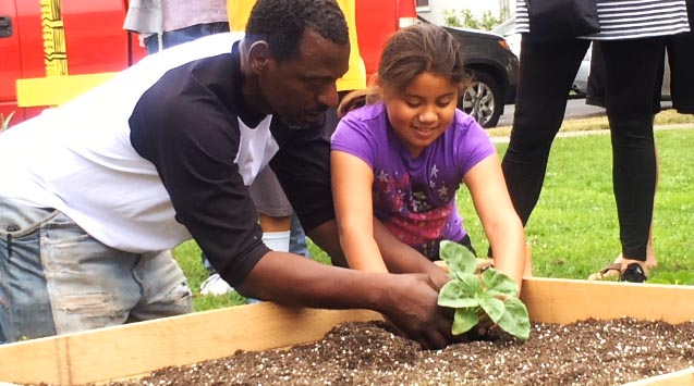 Ron Finley has planted gardens around South LA for the past few years.