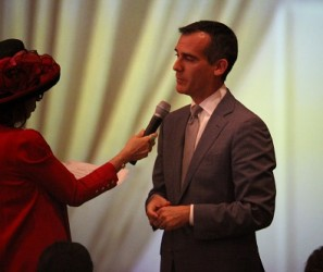 Mayor Eric Garcetti at California Community Foundation Town Hall on October 8, 2015 | Photo by Kevin Walker